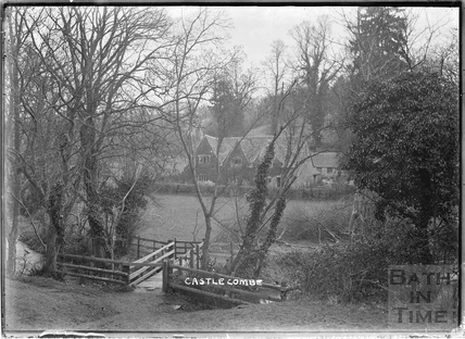 View across stream at Castle Combe 1936