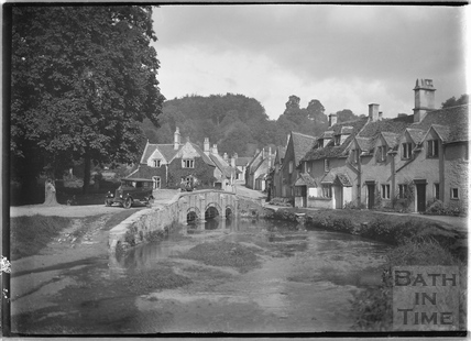 The classic view of Castle Combe (No.1) 1936