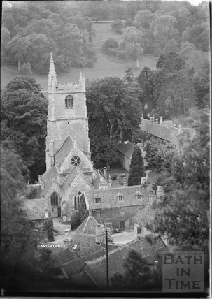 View of the church and village, Castle Combe No.8 c.1930s