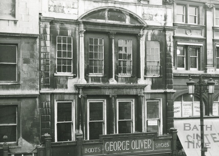The first floor of Oliver's, 24 High Street c.1964