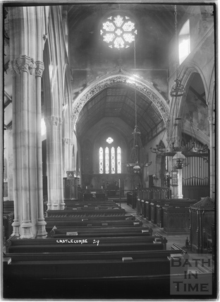 Castle Combe, inside the church No.29 c. November 1933