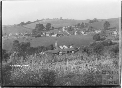 View of Slaughterford with the mill in the foreground, Wiltshire 1932