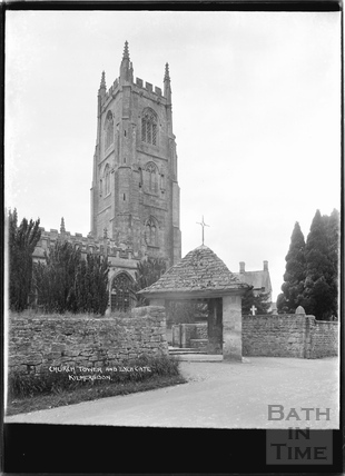 Church Tower and Lych Gate, Kilmersdon, Somerset c.1938