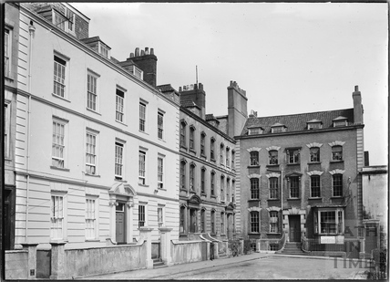 Dowry Square, houses on the north and east sides, Hotwells, Bristol c.1950