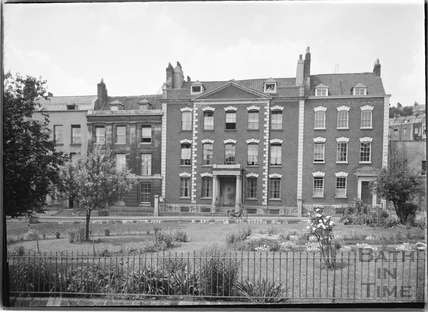 Dowry Square, houses on the west side, Hotwells, Bristol c.1950