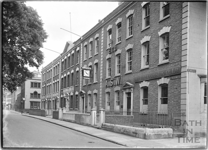 Brunswick Square. The south side, Bristol c.1950