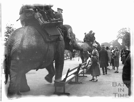 Elephant rides during a trip to London 1926