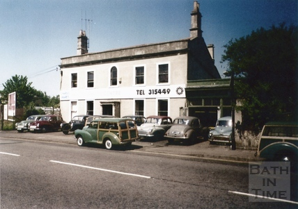 The original site of Charlie Ware's Morris Minor Centre, Lower Bristol Road c.1985