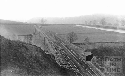 View to the west from above the west portal of Twerton Tunnel c.1903