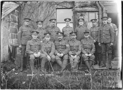 Sergeants, 12th Hants, Bath No.17 c.April 1915