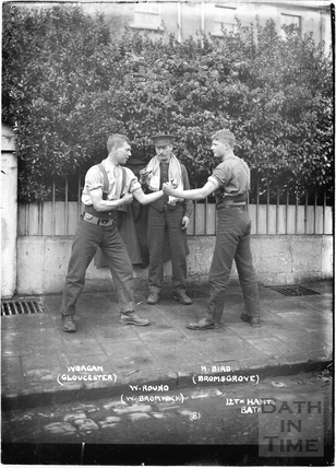 Boxing, 12th Hants, Bath No.8 c.April 1915