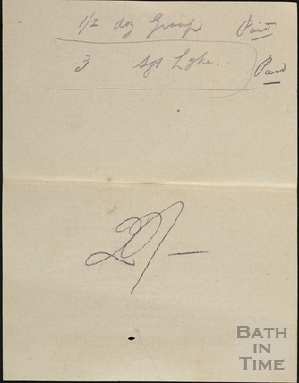 Notes possibly relating to sales of prints for the 12th Hants, Bath, c.April 1916