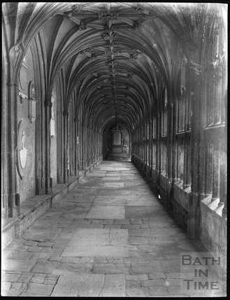 Cloisters at Lacock c.1900