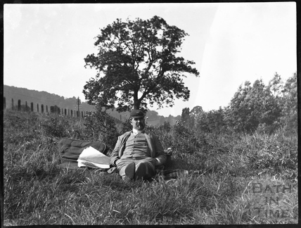 Picnicing by the river at Warleigh, c.1900