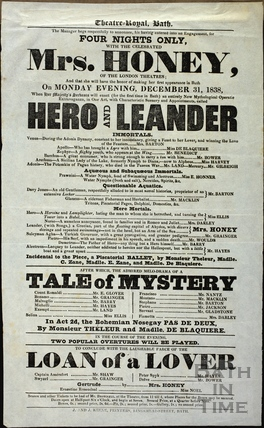 Playbill at Theatre Royal, Bath for Monday December 31 1838