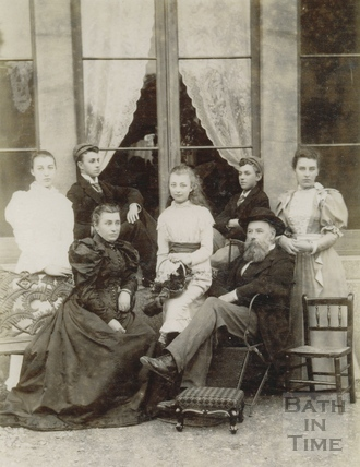 The Carr Family at Wood House, Twerton c.1893