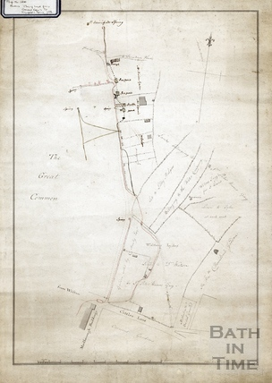 Plan of land from Crescent Gardens to St Winifred's Spring June 6th 1786