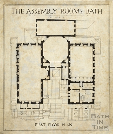 Assembly Rooms (1st floor plan) 1933/4?