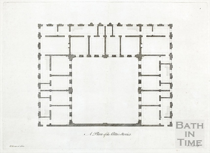Plan of the attic stories (King's and Queen's Baths, Pump Rooms) c.1781