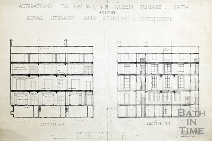 Alterations to 16, 17 & 18 Queen's Square for the BRLSI, Bath February 1931