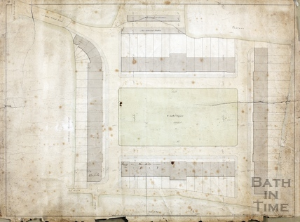 St James Square, Cheltenham - proposed plans - Charles Harcourt Masters, 1809