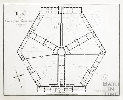 Plan of Bath Union Workhouse (ground floor) 20th December 1838