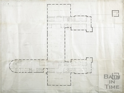 Proposed new building RNHRD (Mineral Water Hospital) - 3rd floor plan - drawing no.1034/43 November 1938