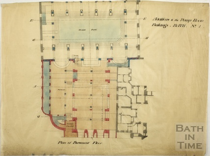 Addition to the Pump Room buildings - basement floor - Scheme no.1 - c.1890s?