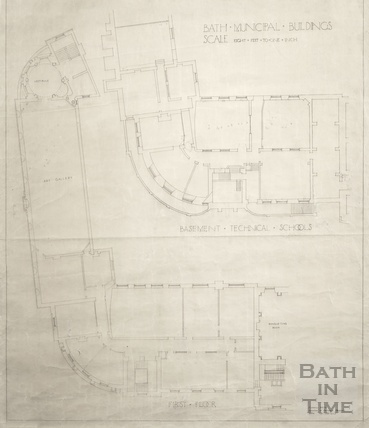 Bath Municipal buildings - basement Technical Schools & 1st floor Tech Schools and Victoria Art Gallery November 1933