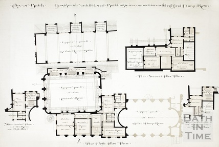 Design for additional buildings in connection with Grand Pump Room - first floor plan 1894