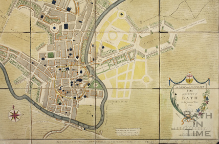 the New and Accurate Plan of the City of Bath to the present year 1793 - detail