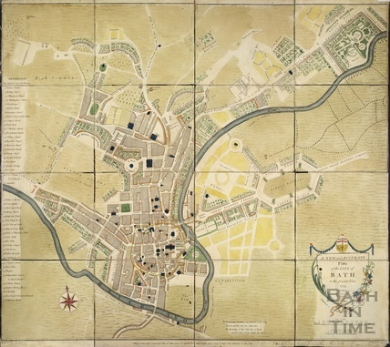 From the New and Accurate Plan of the City of Bath to the present year 1793