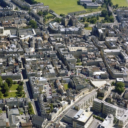 1981 Aerial view of Bath showing the city centre 29 Sept