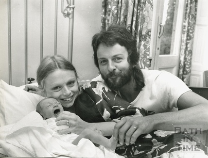 Mad' Mick Ringham with wife Rose and newly born son Jesse James 24th August 1977