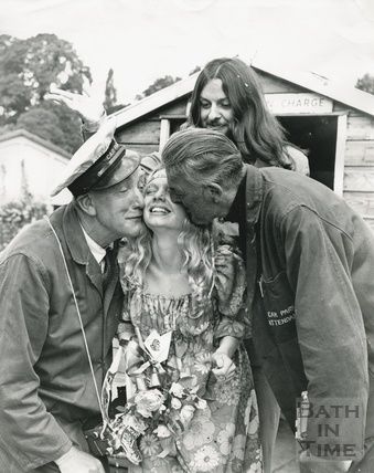 Mad' Mick Ringham on his wedding day, marries Rosemary Smith from Bathford 25 June 1970