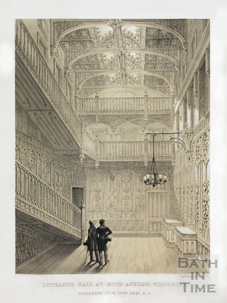 The Entrance Hall at Rood Ashton, Wiltshire, residence of W. Long Esq. M.P. c.1830