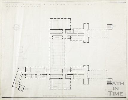 RNHRD Mineral Water Hospital proposed new buildings - 3rd floor plan - A9278/205 - AJ Taylor 1938