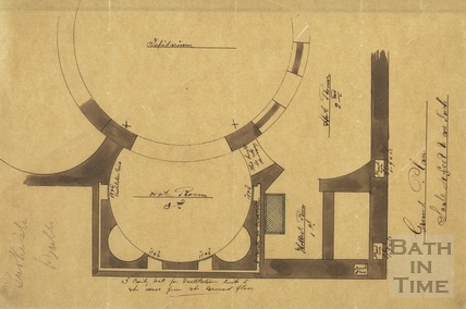 Turkish Baths - Private Baths - ground plan 1890s?