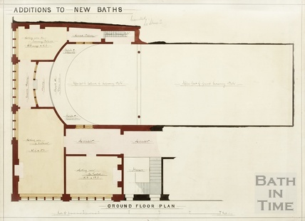 Additions to New Baths Royal Swimming Baths - ground floor plan 1930s?