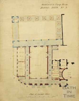 Additions to the Pump Room buildings - Bath no.2, plan of ground floor 1890s?