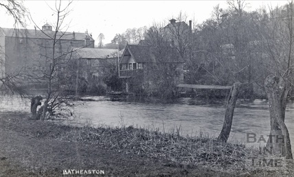 The boathouse and Batheaston Mill, posted 1912?