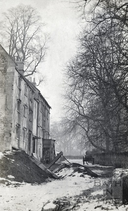 Bathampton Mill in the snow, posted 1908