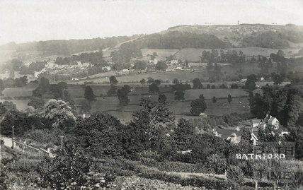 Distant view of Bathford from Bailbrook Lane c.1910