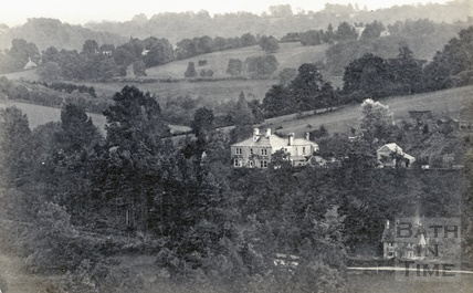 Monkton House, Limpley Stoke and Waterhouse Lane, Monkton Combe, posted 1906