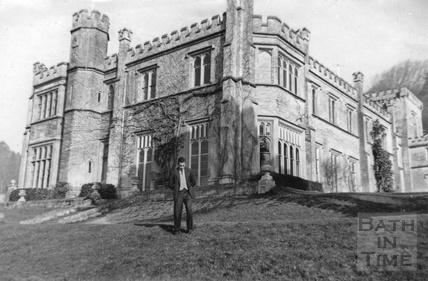 Dudley Prins outside Warleigh Manor, when it was Rodbourne College c.1959