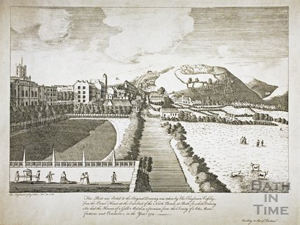 View from North Parade, Bath 1760