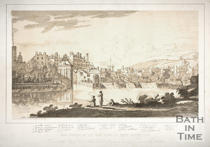 Facsimile of an Old View of Bath about 1730