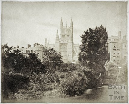 Bath Abbey from the River Avon, Bath c.1855