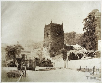 St. Thomas à Becket Church and Widcombe Manor, Bath c.1855