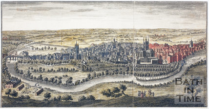 A Perspective View of the City of Bath 1758. Coloured version